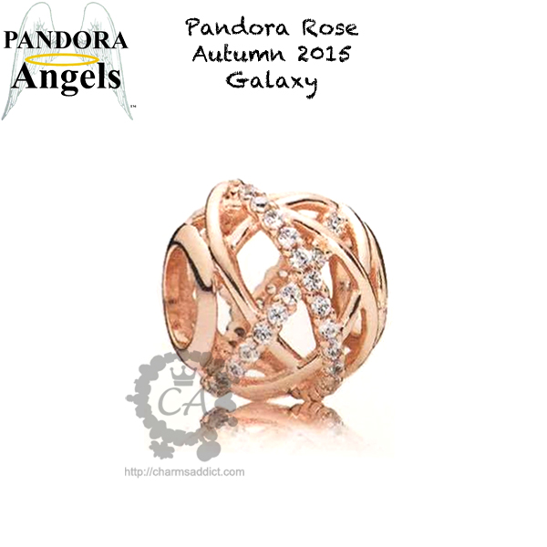 pandora light as a feather charm rose gold