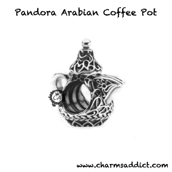 pandora charm coffee pot