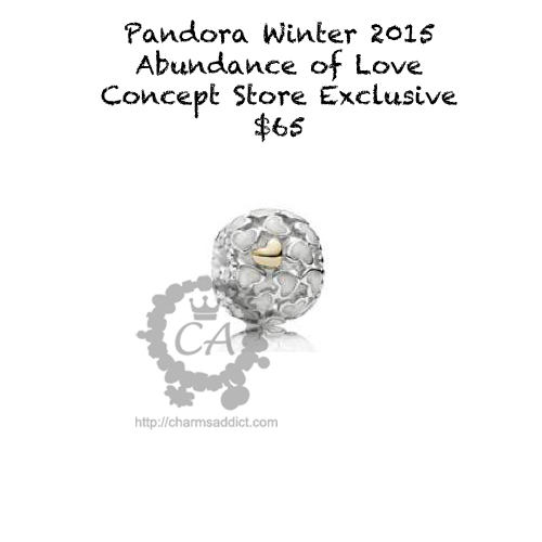 Pandora Winter 2015 Collection Prices Charms Addict