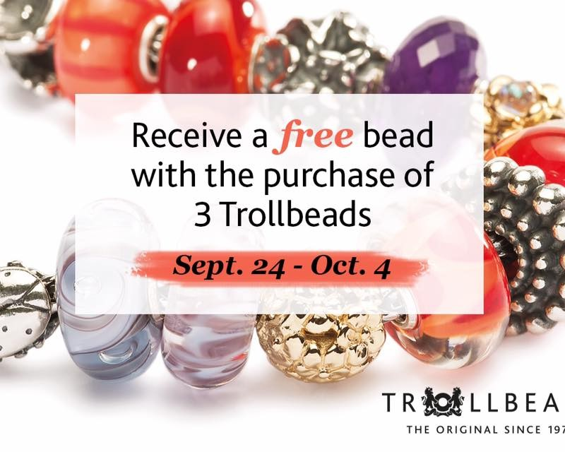 Trollbeads Autumn 2015 Buy 3, Get 1 Free