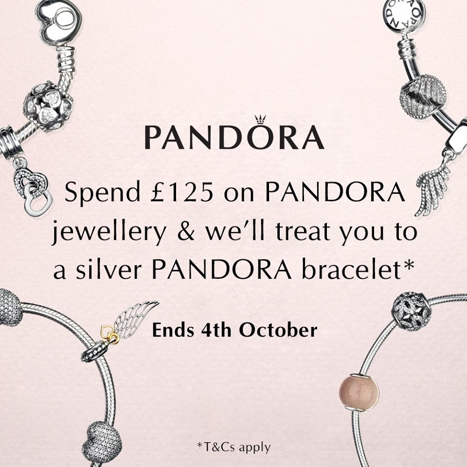 pandora jewelry coupons uk