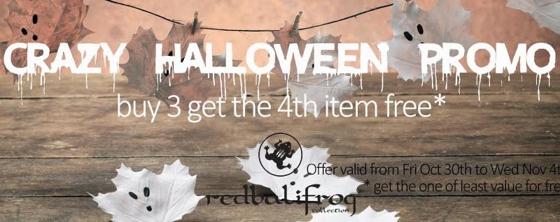 *redbalifrog* Halloween Promotion Kicks Off