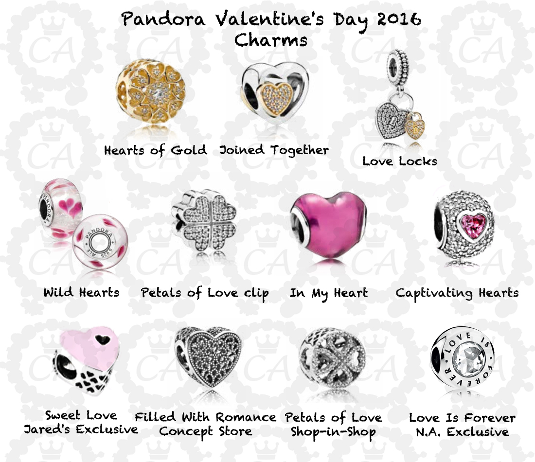 pandora valentine 39 s day 2016 full preview charms addict