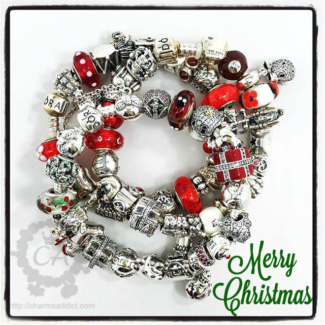 pandora 2016 christmas charms