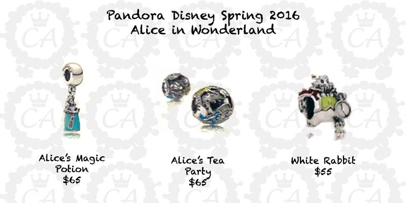charm pandora alice in wonderland