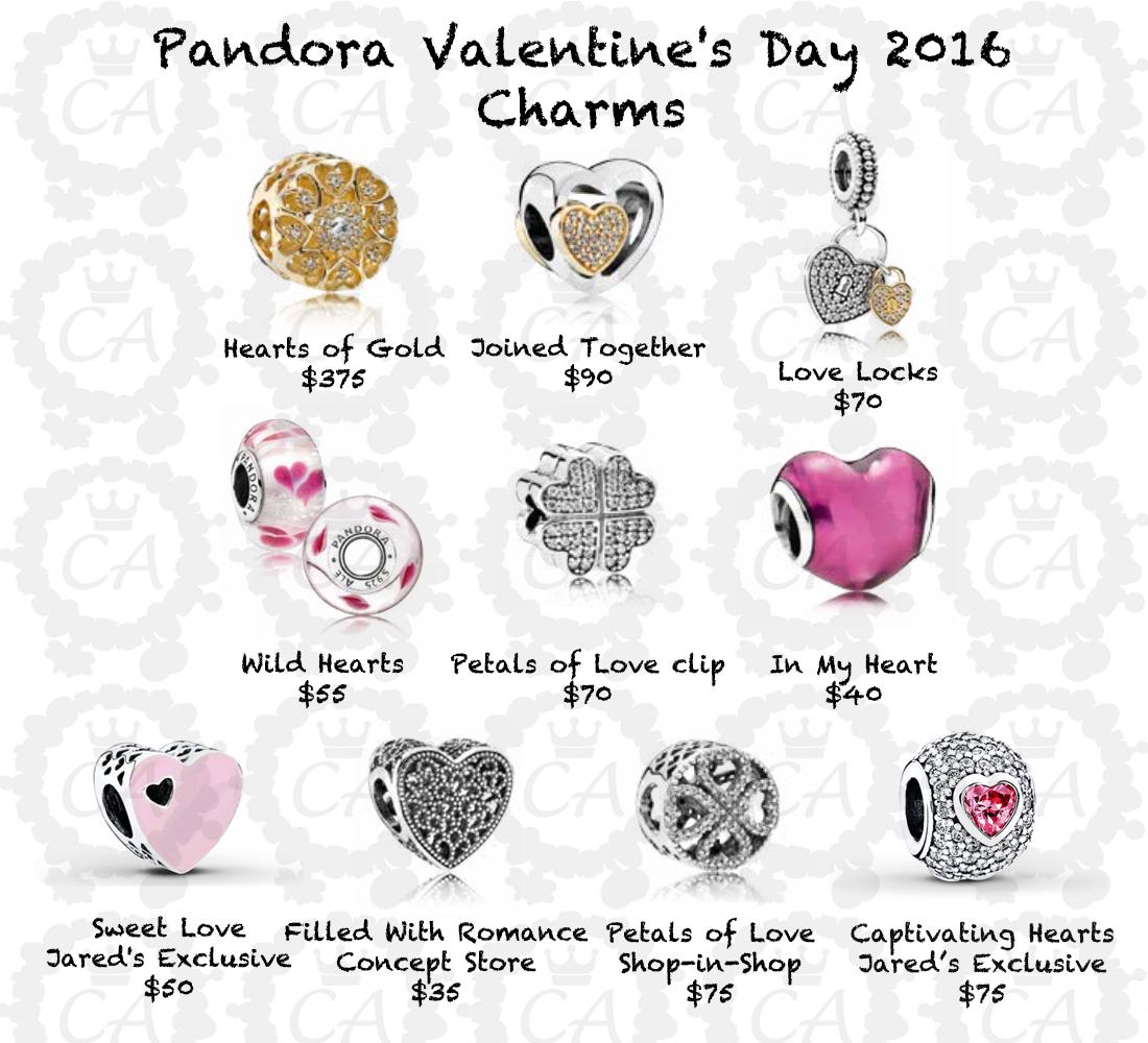 Schön Pandora Valentineu0027s Day 2016 Charms Complete