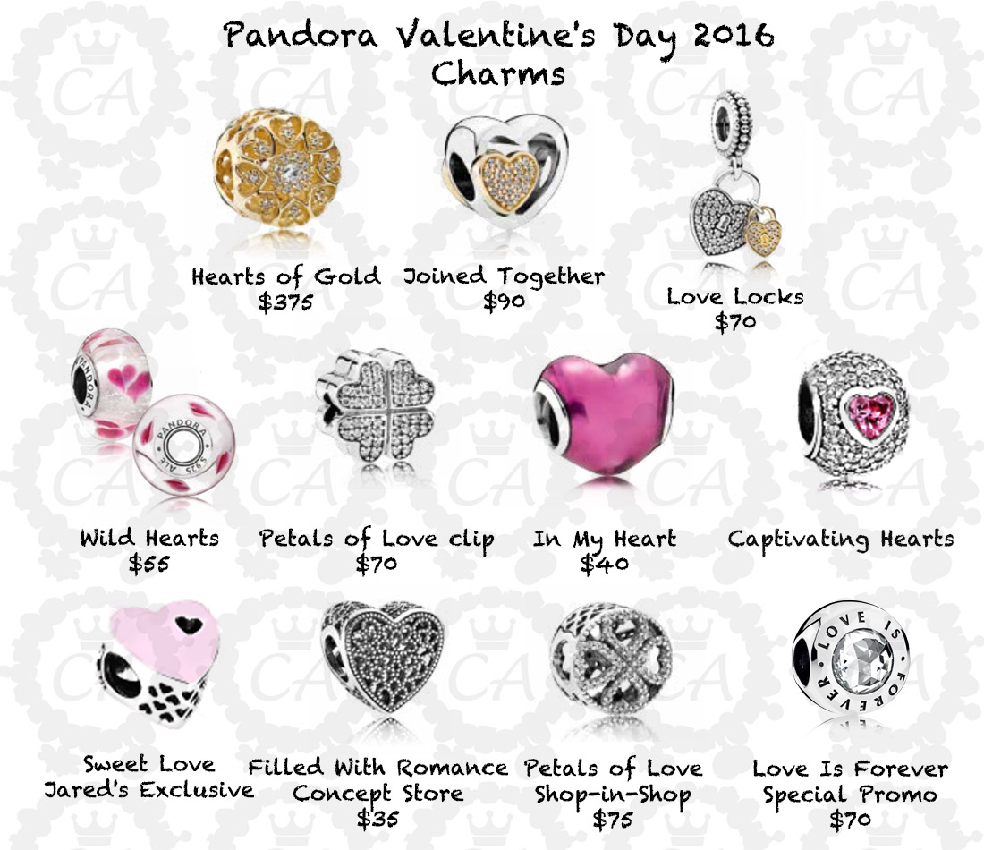 Schön Pandora Valentineu0027s Day 2016 Charms Prices