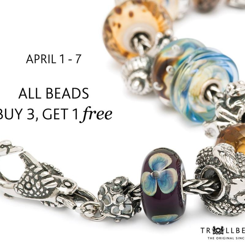 Trollbeads Buy 3, Get 1 Free Event