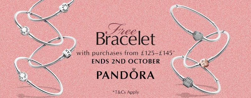 Pandora UK Free Bracelet Promo