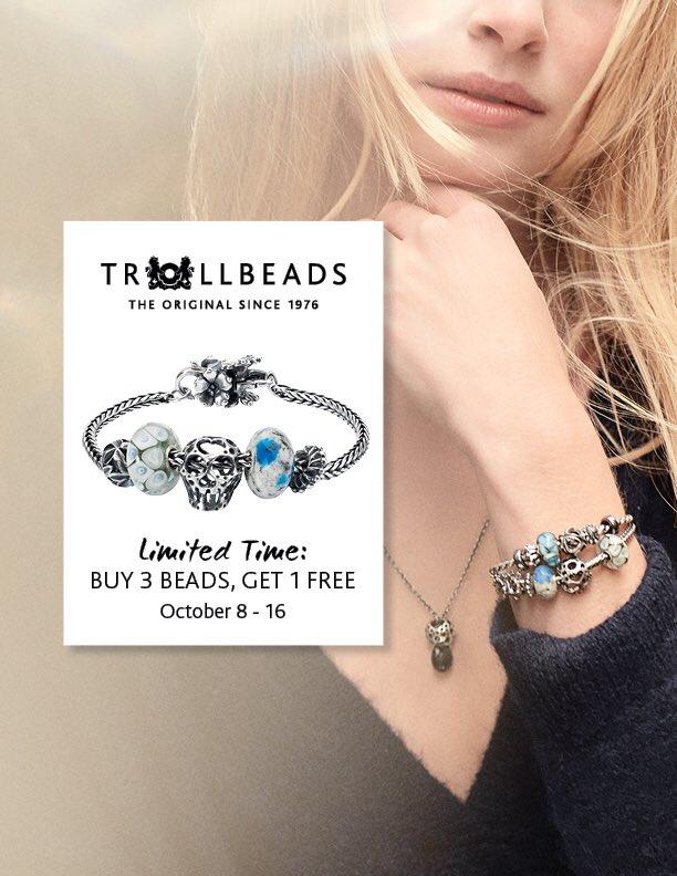 Trollbeads Buy 3, Get 1 Free Promo