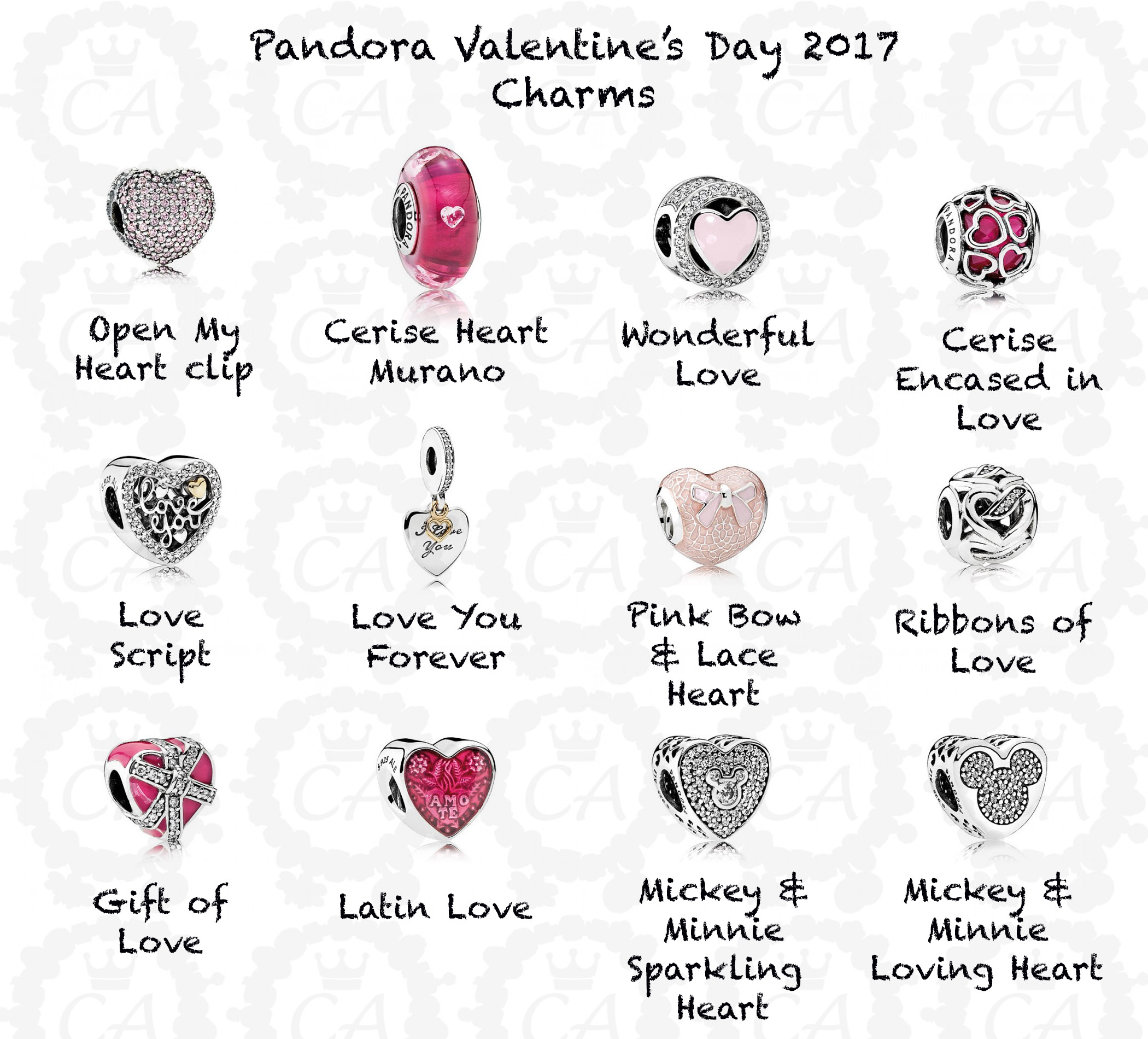 Toll Pandora Valentines Day 2017 Charms