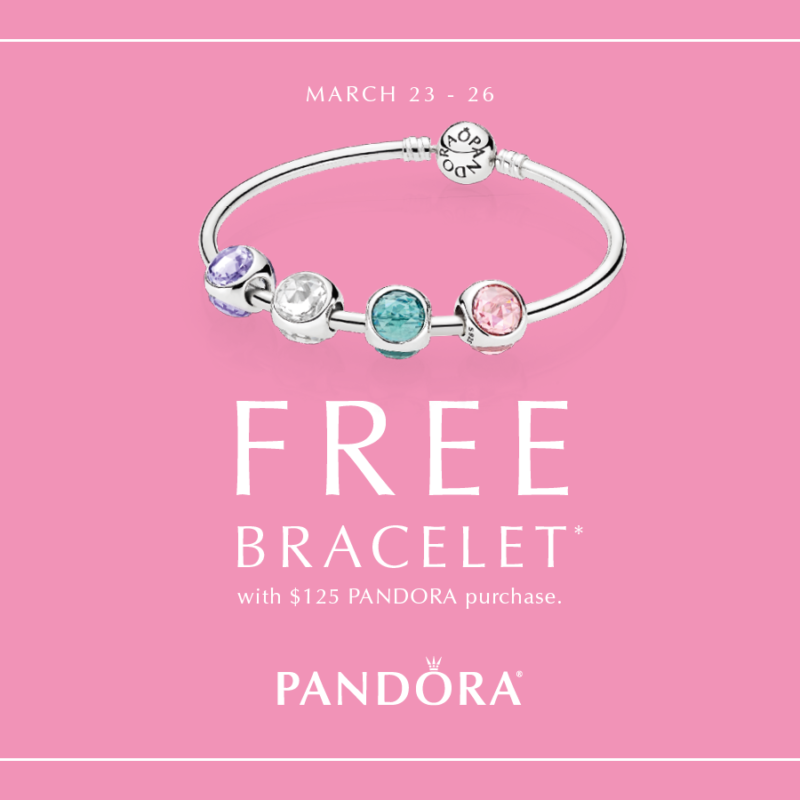 Pandora Free Bracelet Promo (Spring 2017)